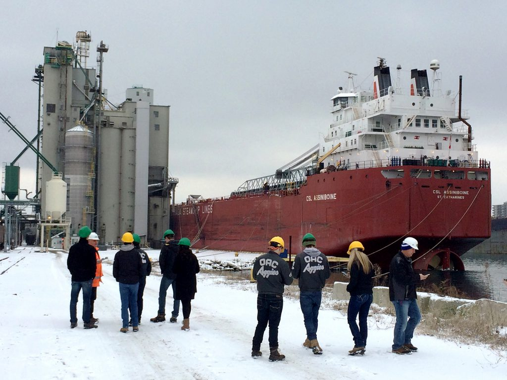 Grains in Action February 2017 at Sarnia Terminal